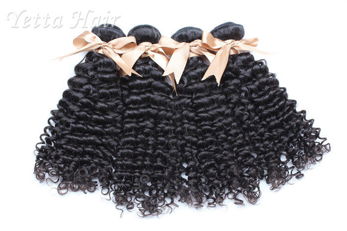 Kinky Weave Mongolian Curly Virgin Hair Extensions No Terrible Smell